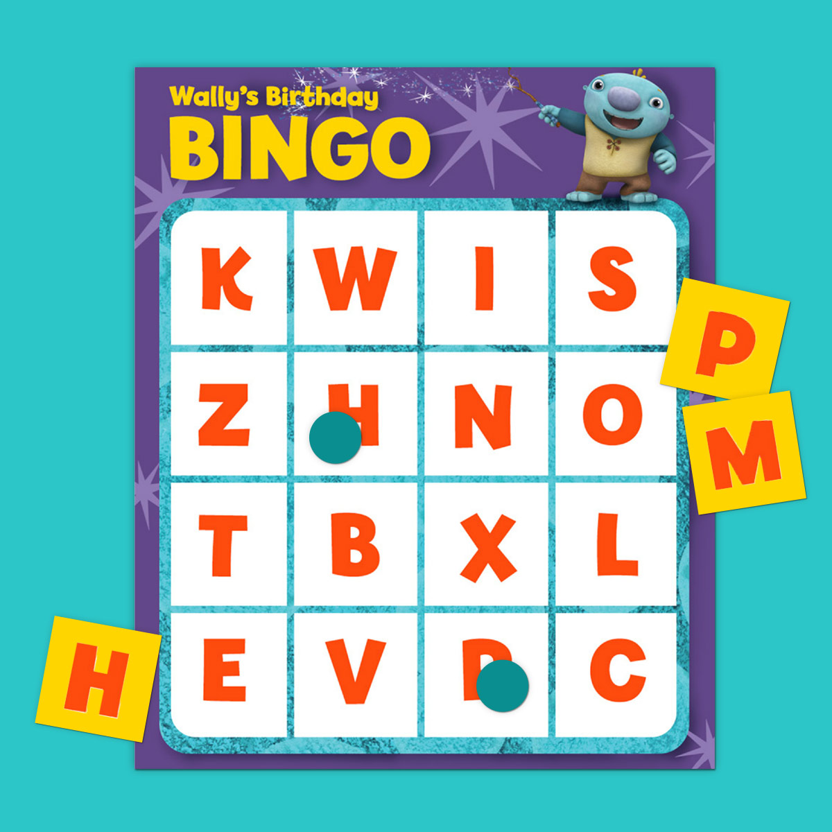 Wallykazam Birthday Bingo