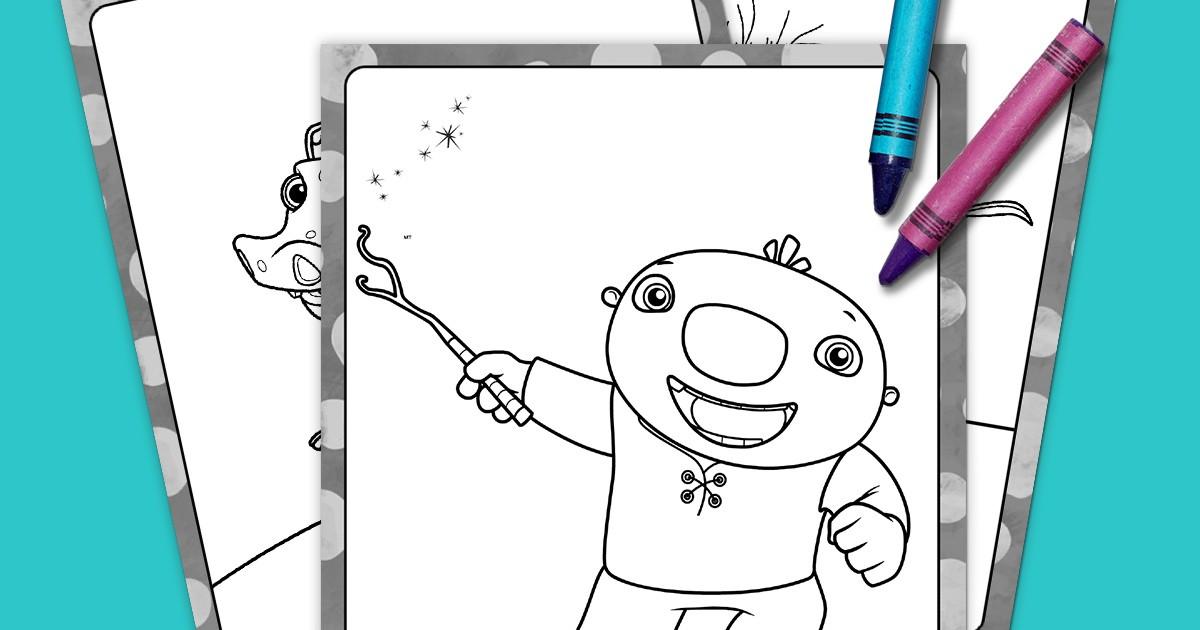 Wallykazam Coloring Pack Nickelodeon