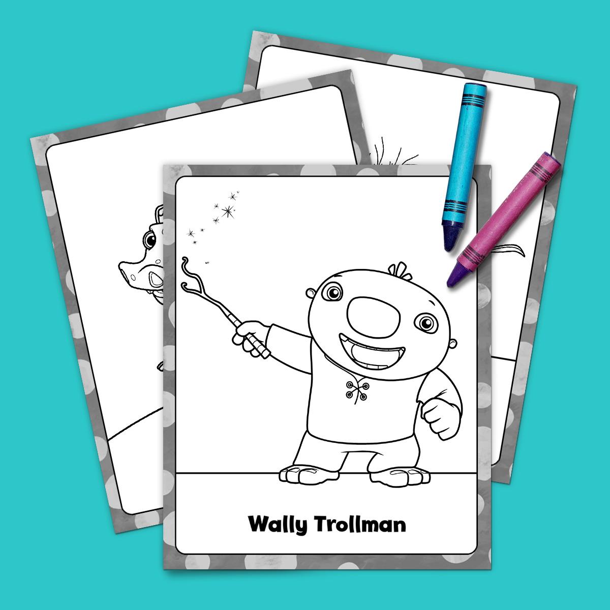wally kazam coloring pages Wallykazam! Coloring Pack | Nickelodeon Parents wally kazam coloring pages