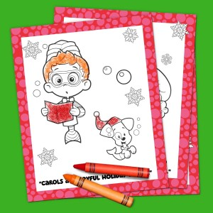 Bubble Guppies Holiday Coloring Pack Nickelodeon Parents