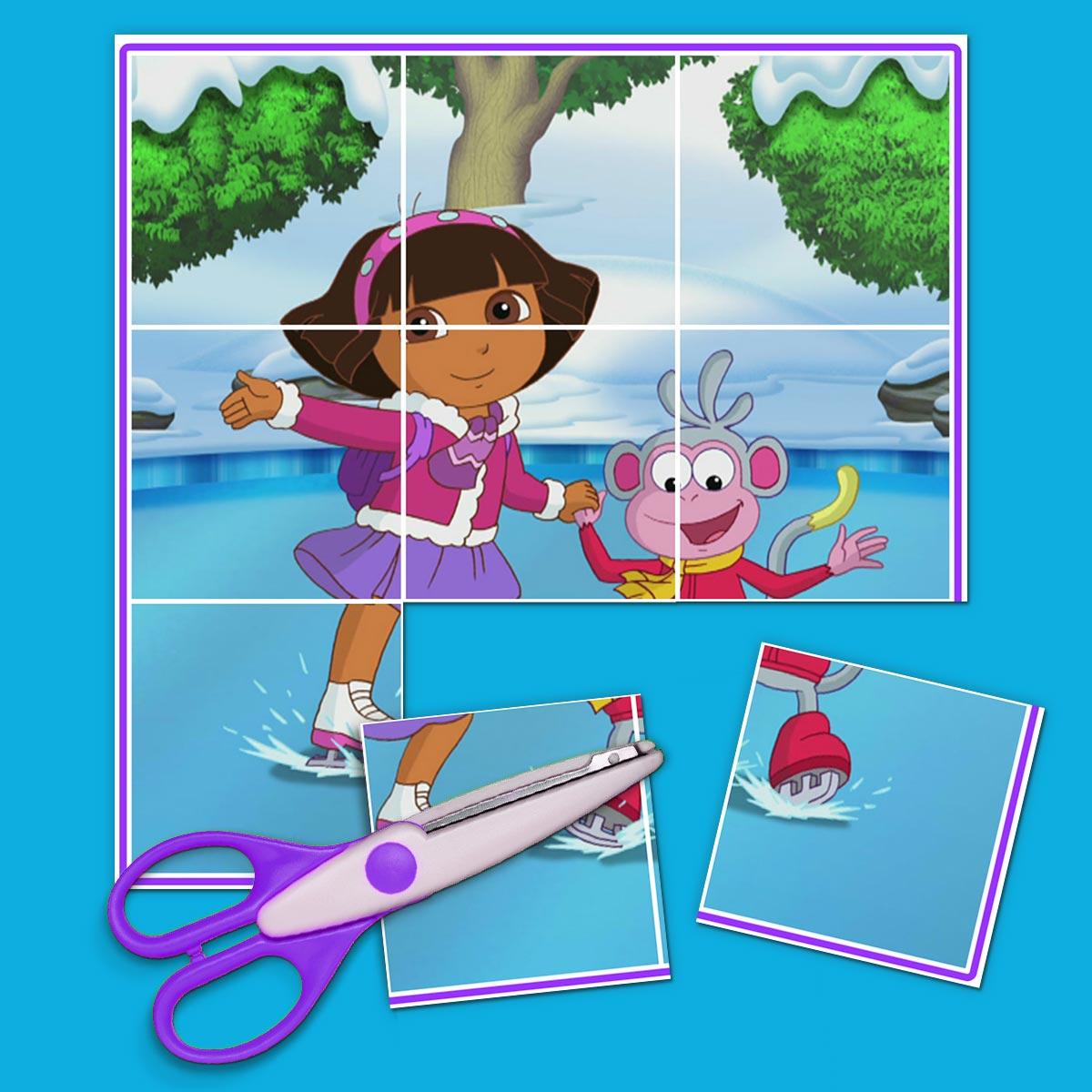Dora Skating Puzzle