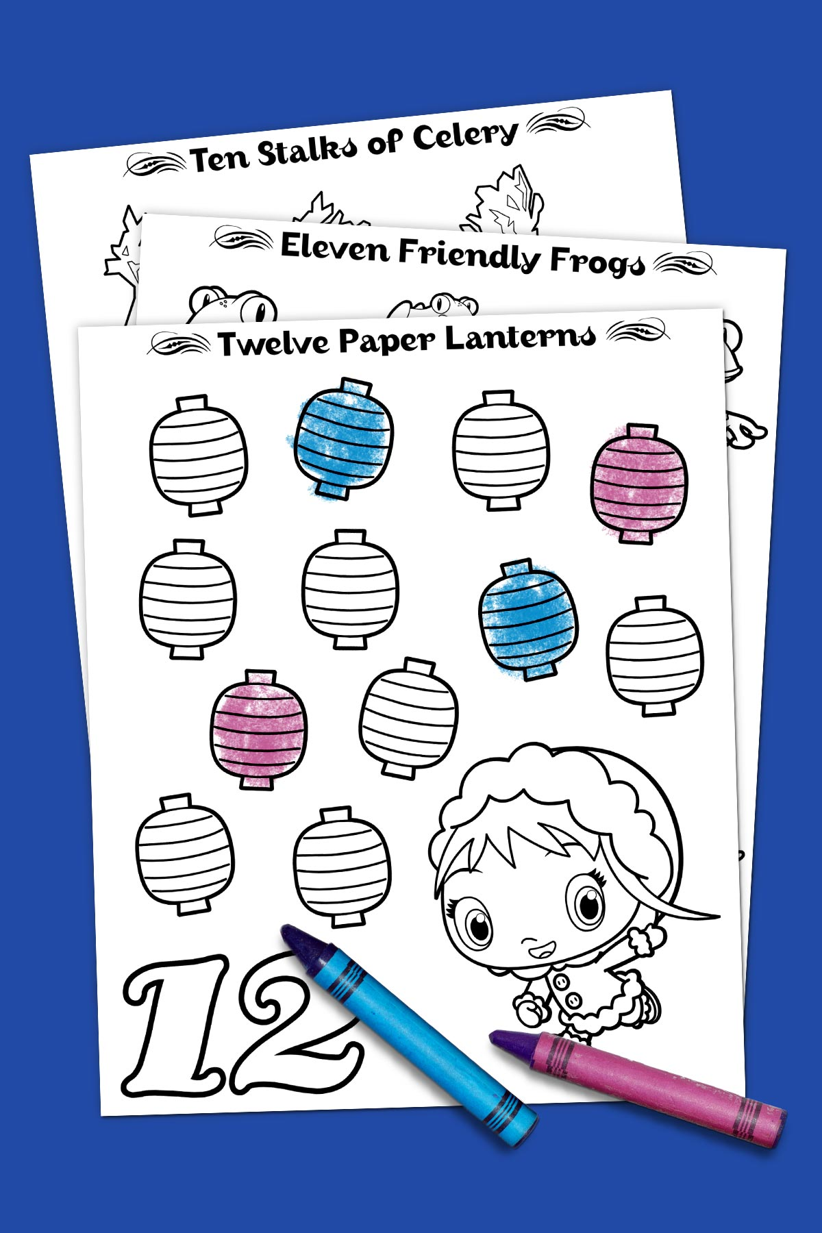 12 Days of Christmas Coloring Fun