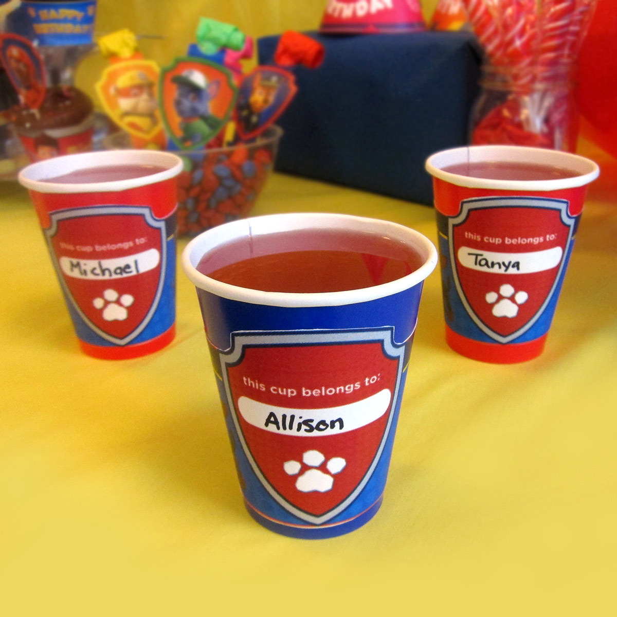 PAW Patrol Cup Wrappers