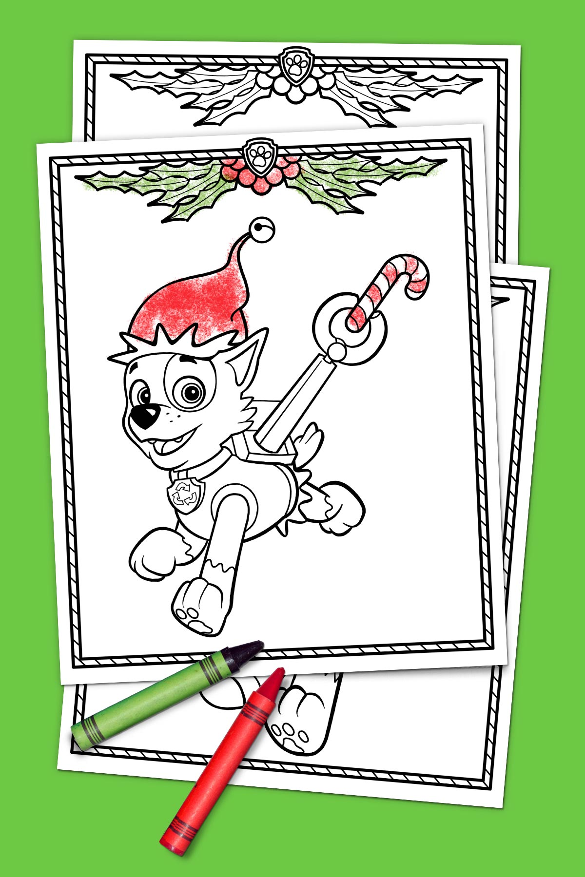 Paw patrol coloring pages christmas - Savesave To Pinterest Paw Patrol Holiday Coloring