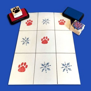 The Pups' Winter Tic Tac Toe