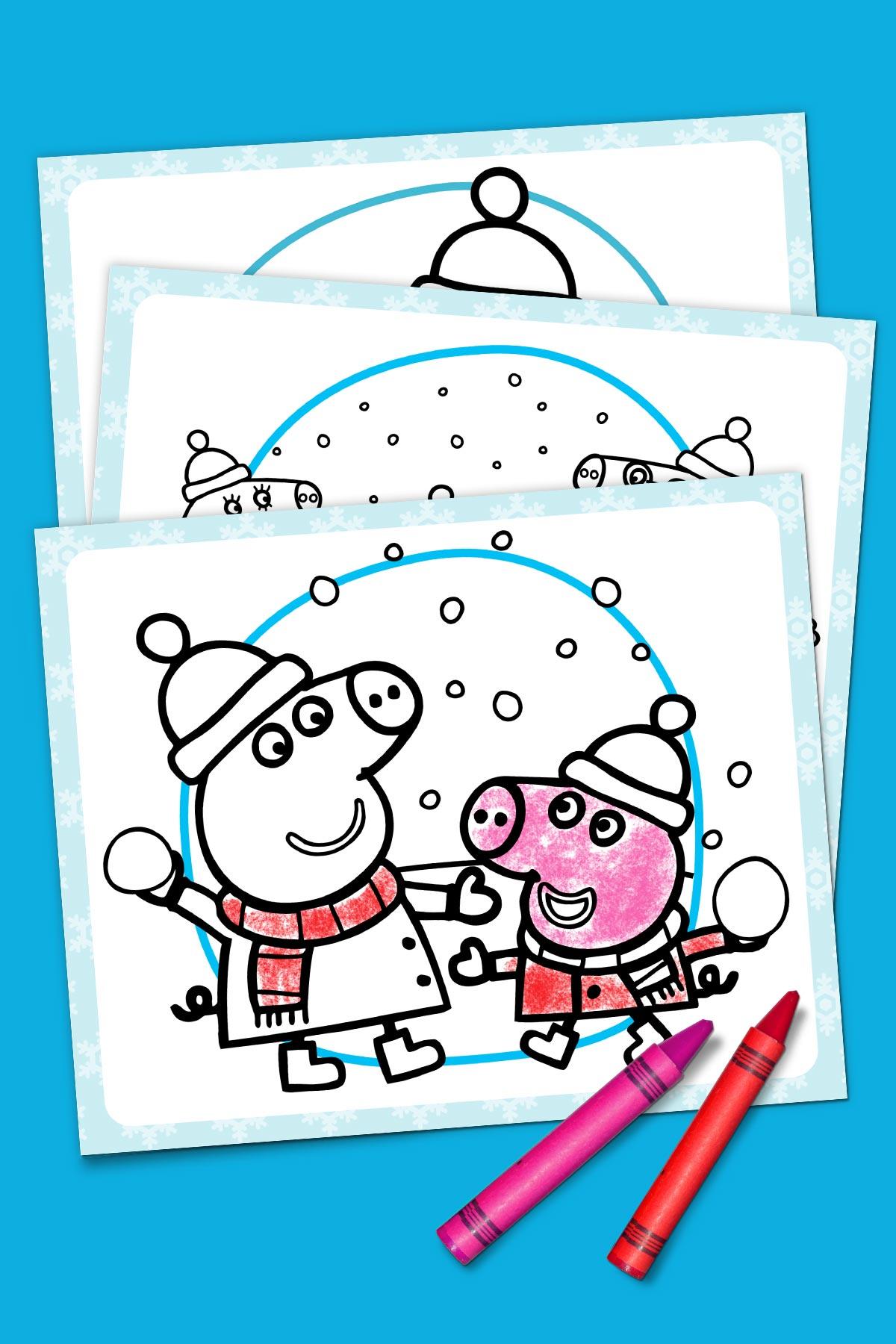 Peppa Pig Winter Coloring Pack