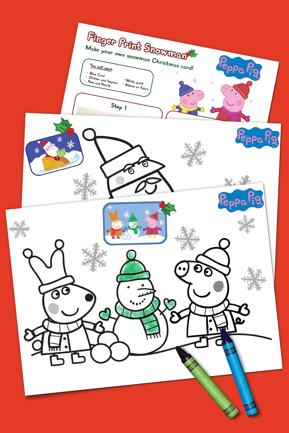 Peppa Holiday Coloring Pack
