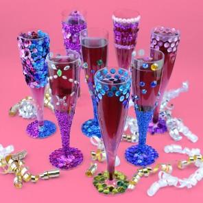 Sparkly Genie Mocktail Flutes