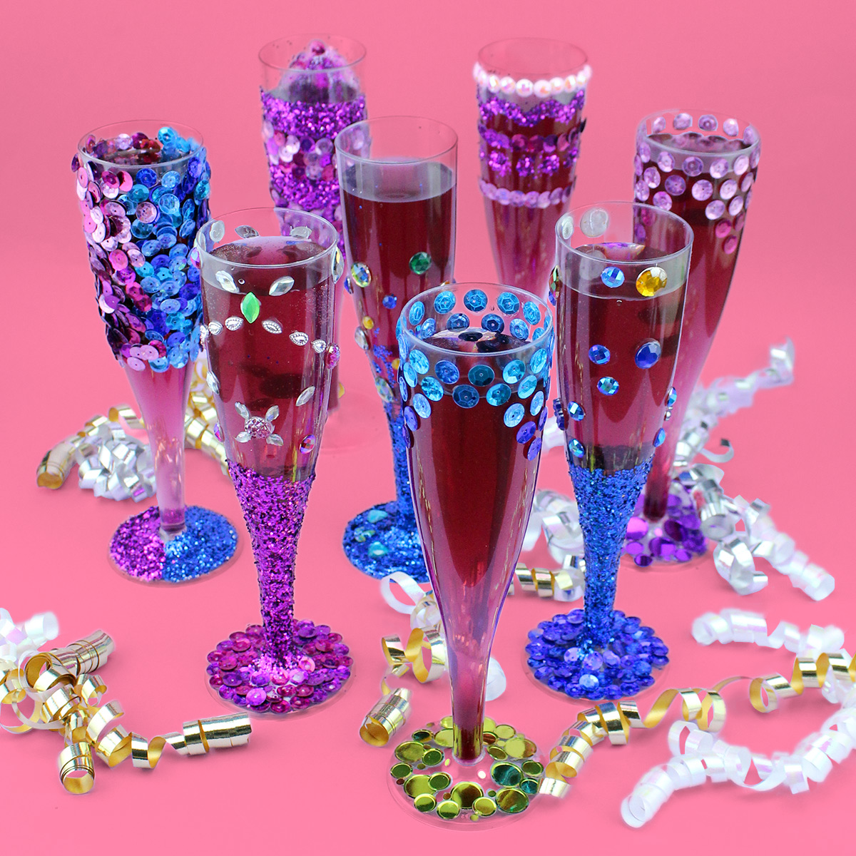 New Year's Champagne Flutes