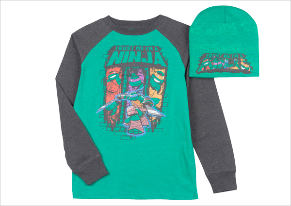 TMNT Shirt and Beanie