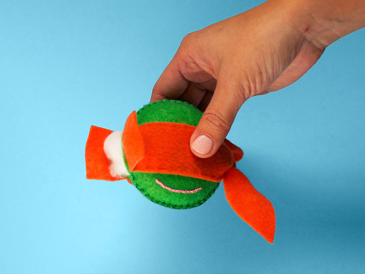 TMNT Felt Ornaments Step 7