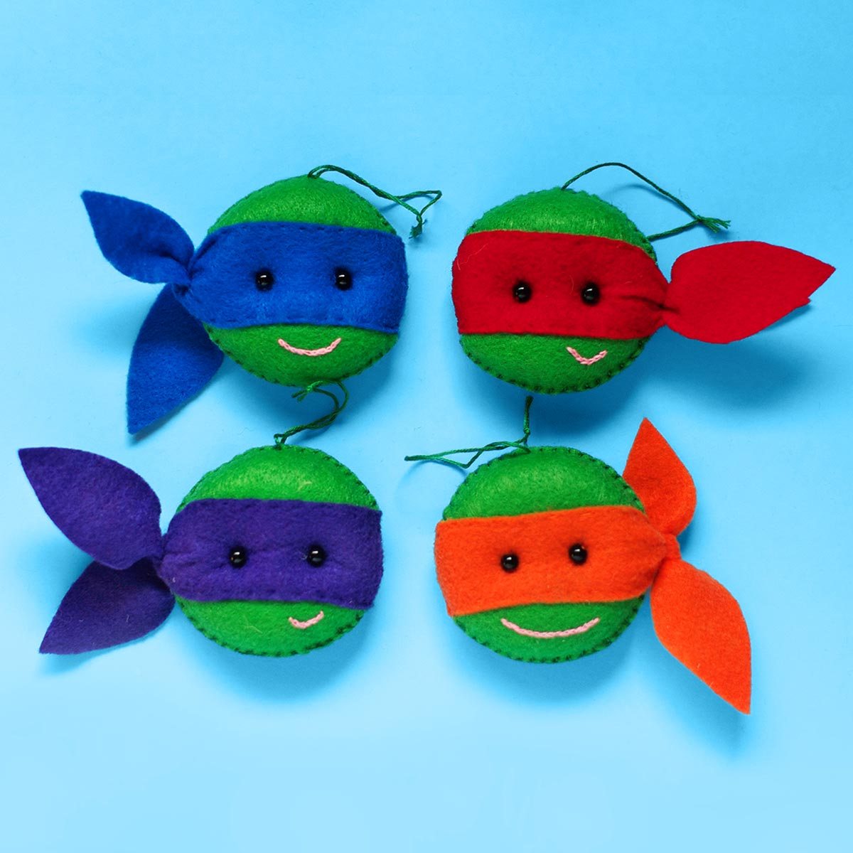 Gnarly TMNT Felt Christmas Ornaments | Nickelodeon Parents