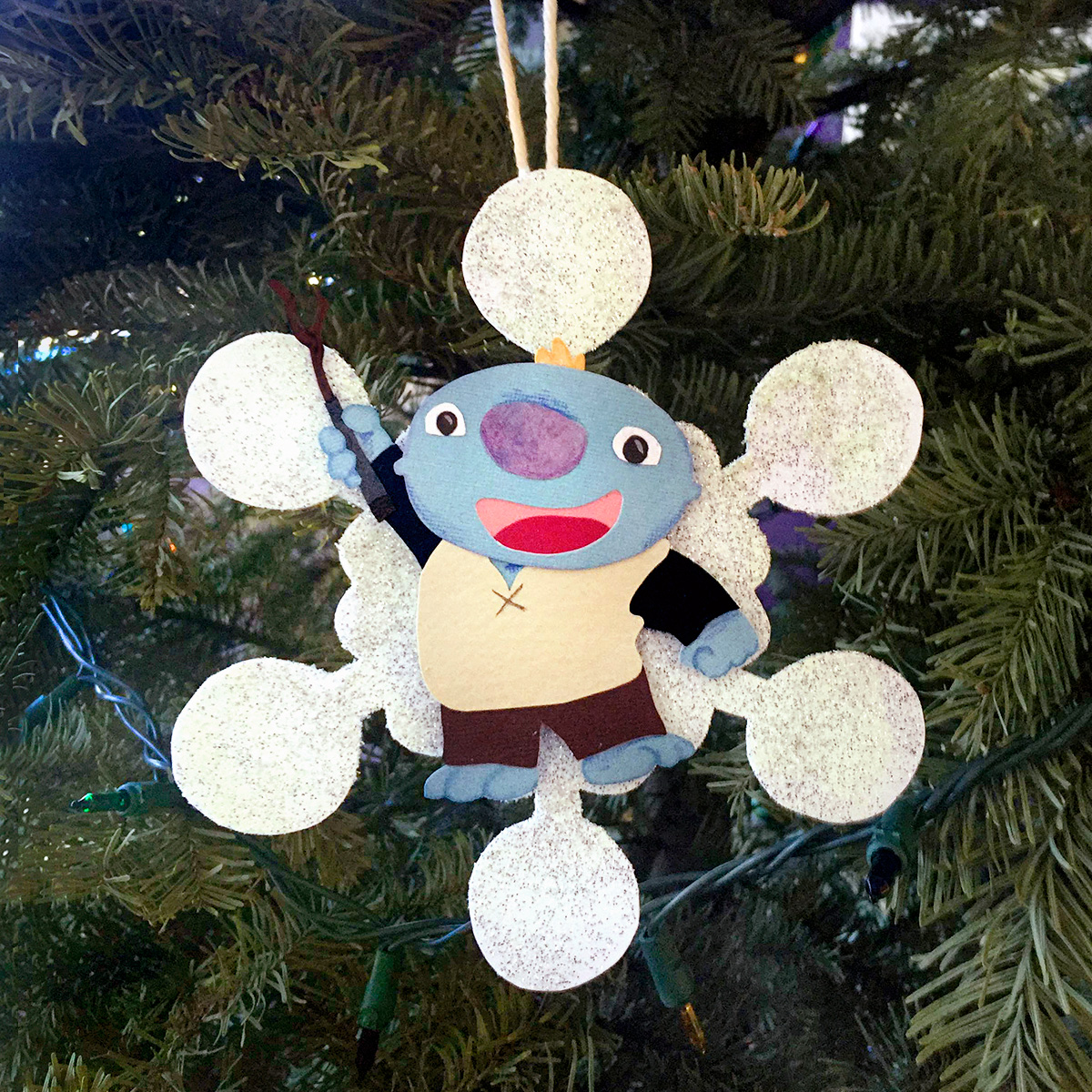 Wallykazam! Snowflake Ornament