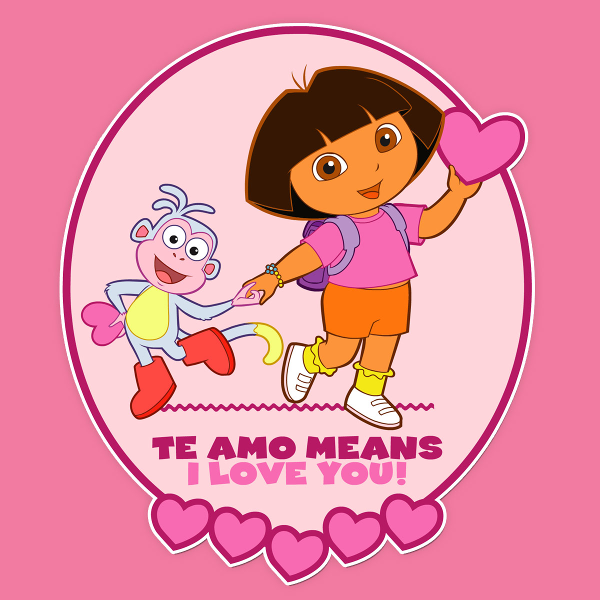 Dora Valentine's Day Card