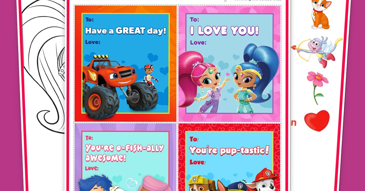 Valentine\'s Day Free Printable Activity Pack | Nickelodeon Parents