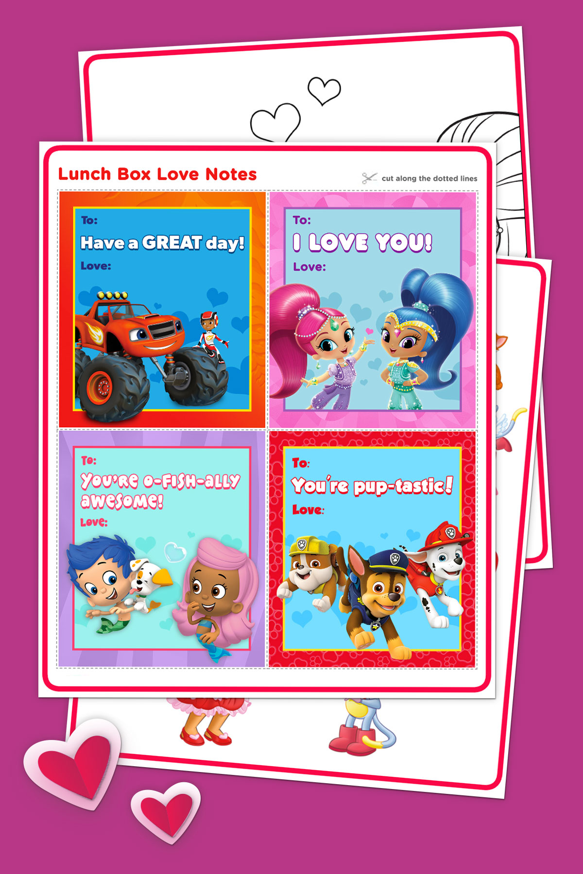 8 Cute DIY Nick Jr. Valentine\'s Day Cards | Nickelodeon Parents