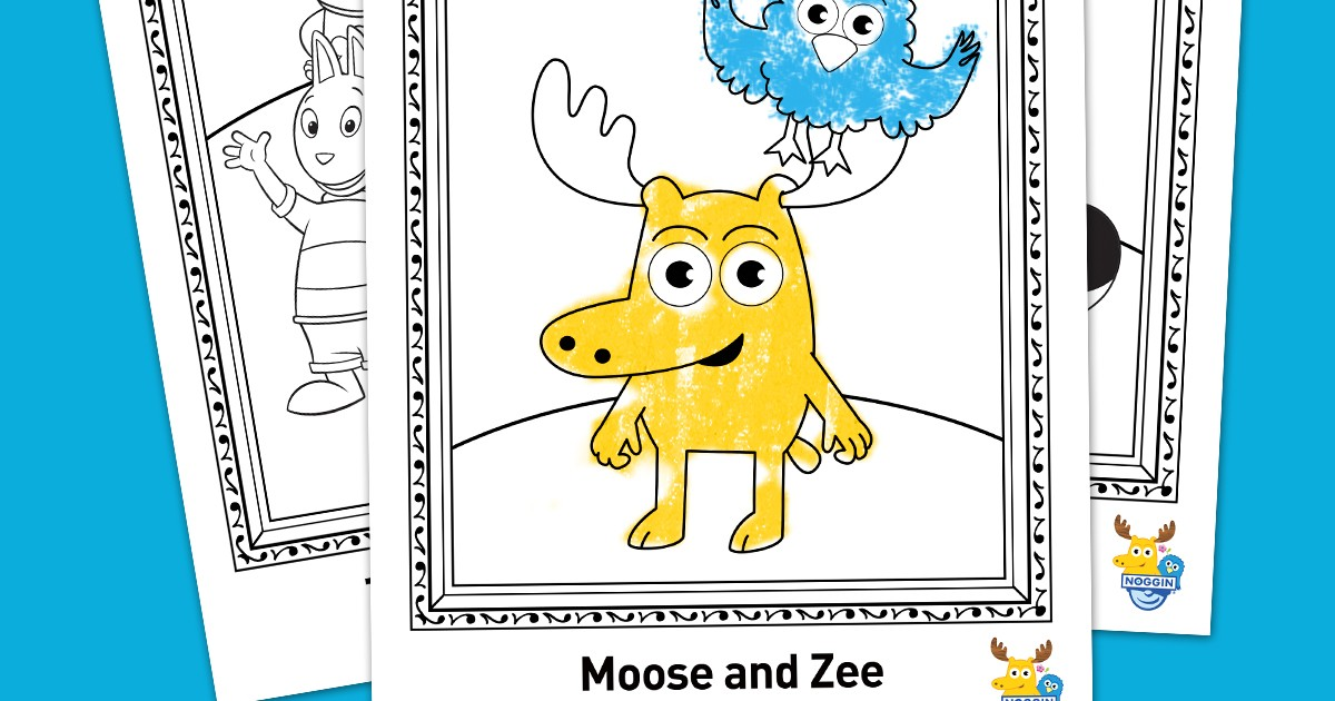 noggin free printable coloring pack nickelodeon parents