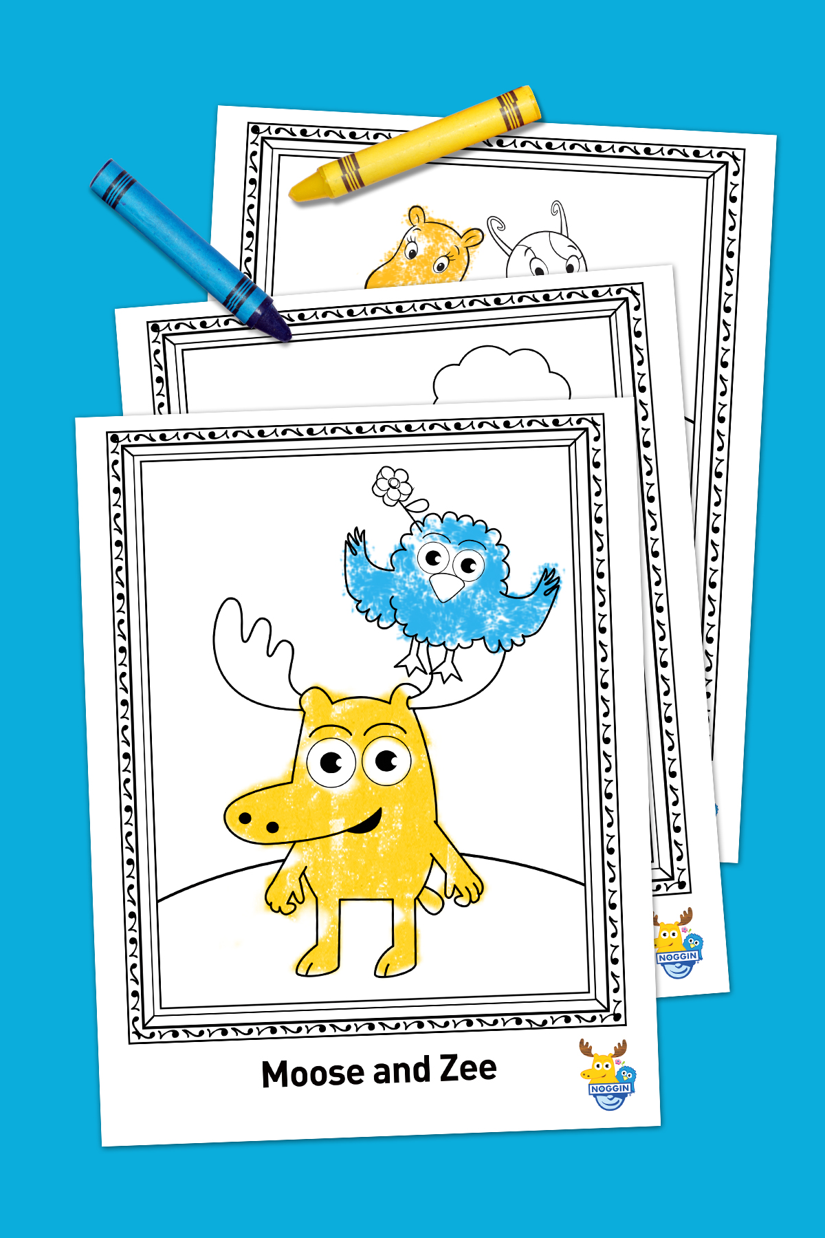 savesave to pinterest noggin free printable coloring pack