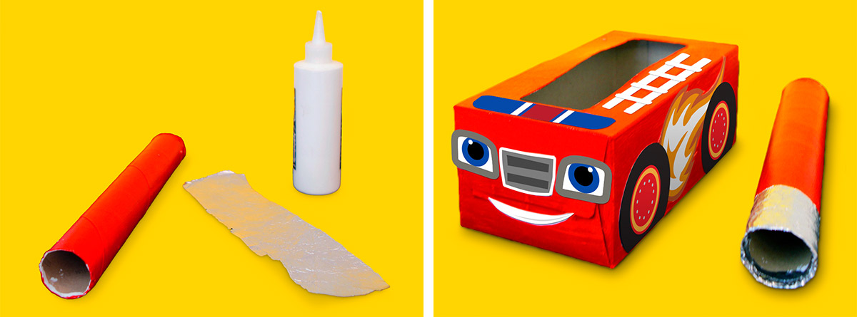 Blaze Firetruck Tissue Box Craft