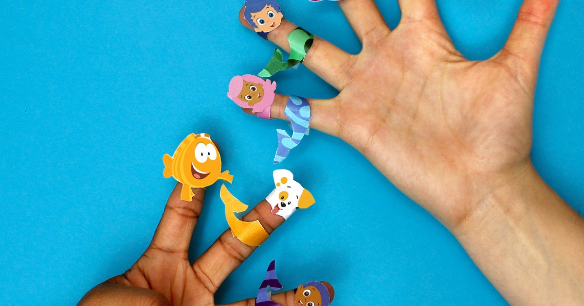 Bubble Guppies Printable Finger Puppets   Nickelodeon Parents