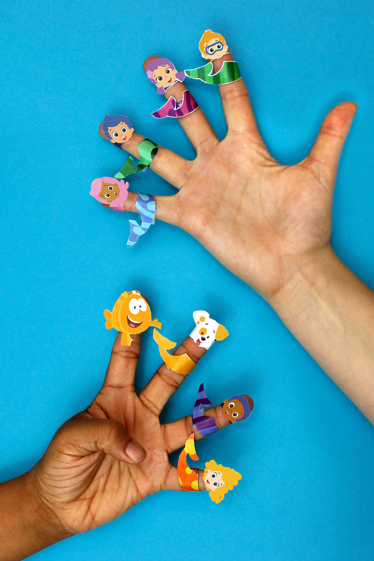 image regarding Bubble Guppies Printable known as Bubble Guppies Printable Finger Puppets Nickelodeon Mothers and fathers