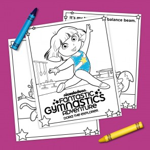 Dora Gymnastics Coloring Pack
