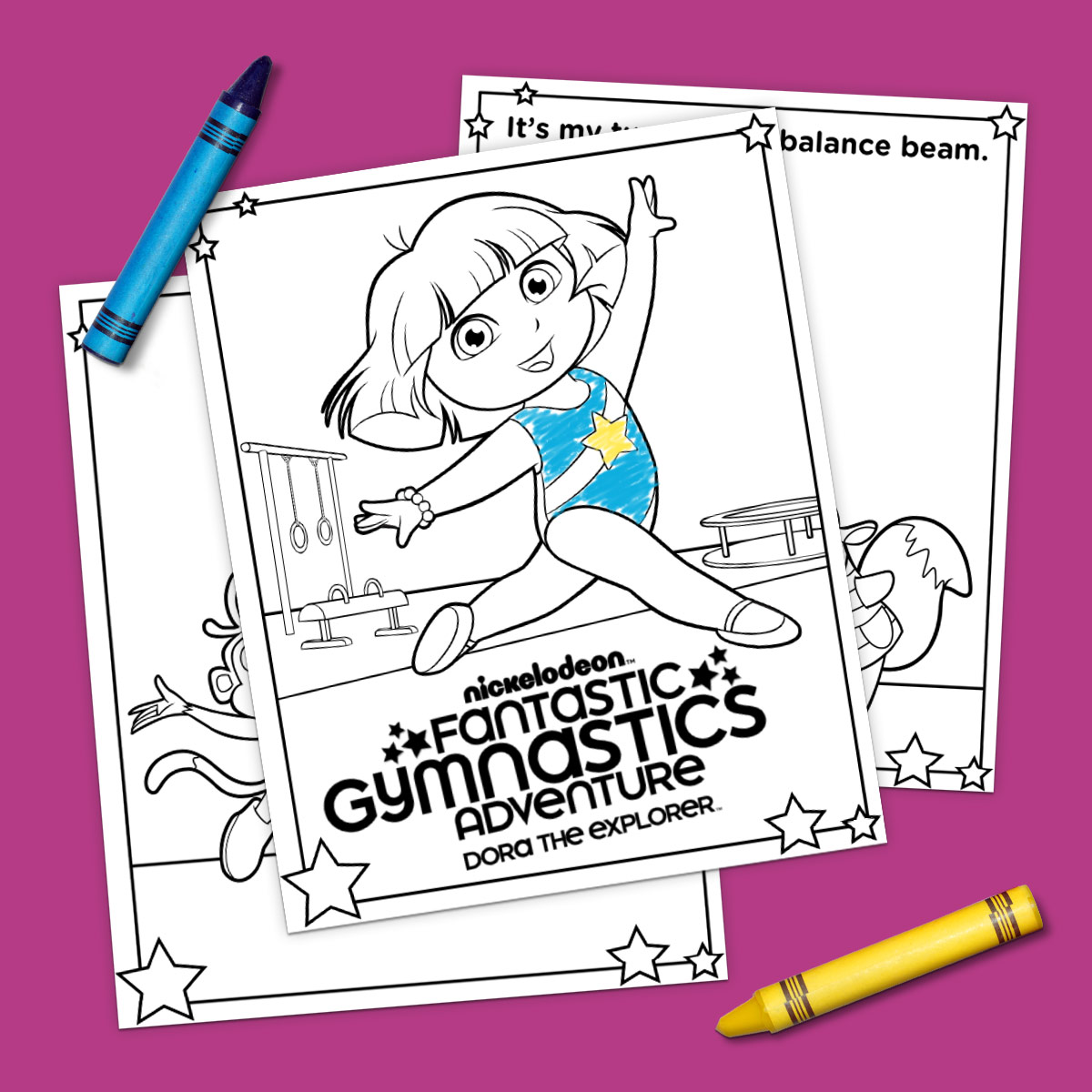 Coloring pictures gymnastics - Savesave To Pinterest Dora Gymnastics Coloring