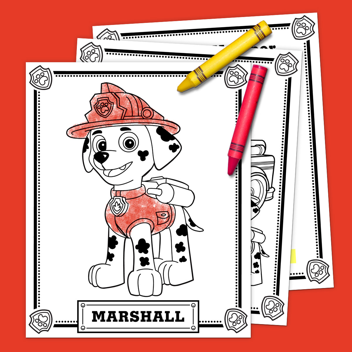 Paw patrol colouring pages free - Savesave To Pinterest Marshall Pack