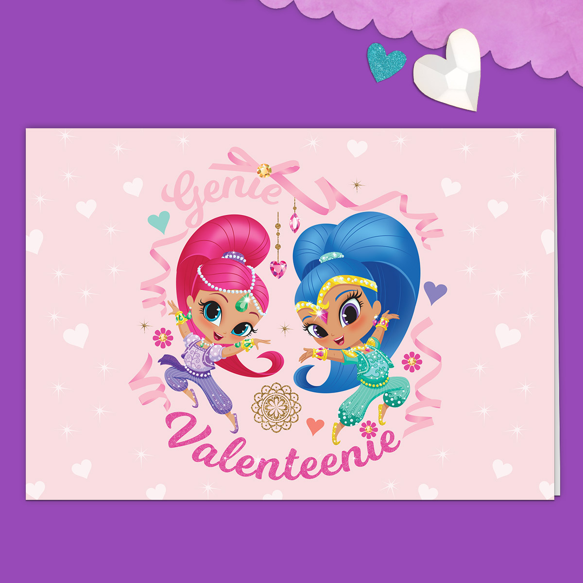 Shimmer and Shine Valentine's Day Card