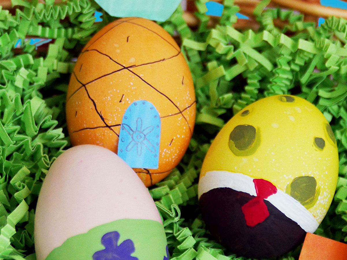 SpongeBob, Patrick, and Pineapple Easter Eggs
