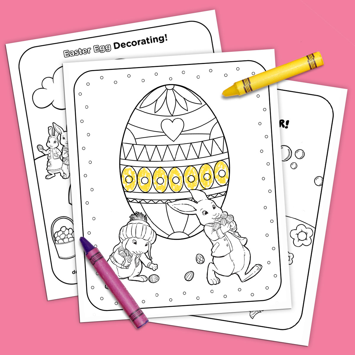 photograph about Easter Printable titled Nick Jr. Printable Easter Coloring Pack Nickelodeon Moms and dads