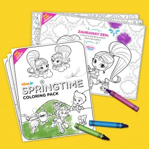 Adult Coloring Pages and Kid-Friendly Springtime Coloring Pack