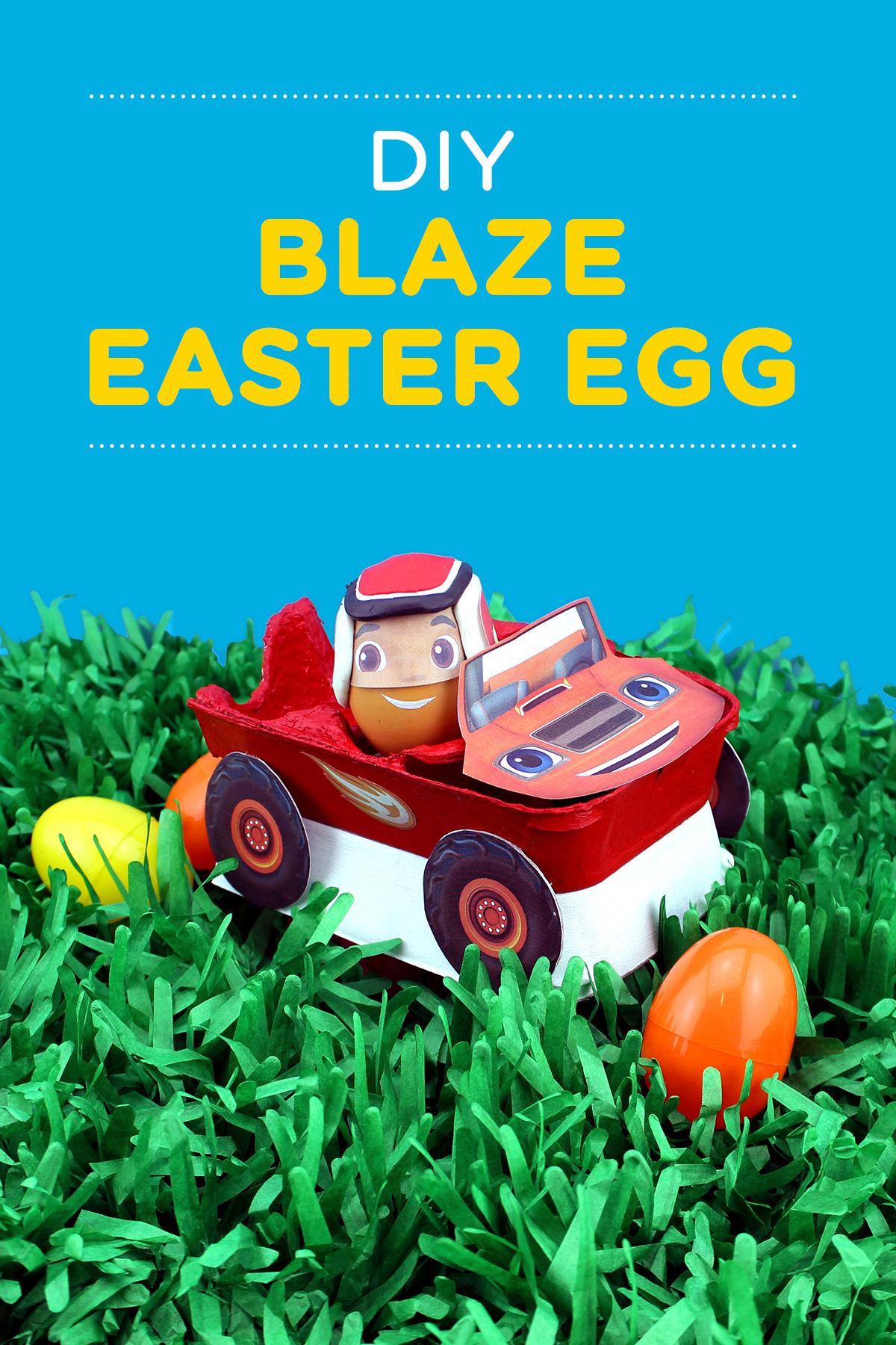 DIY Blaze Easter Egg Craft