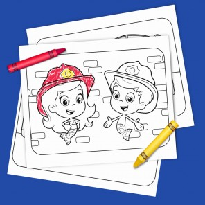 Fire Truck Heroes Coloring!