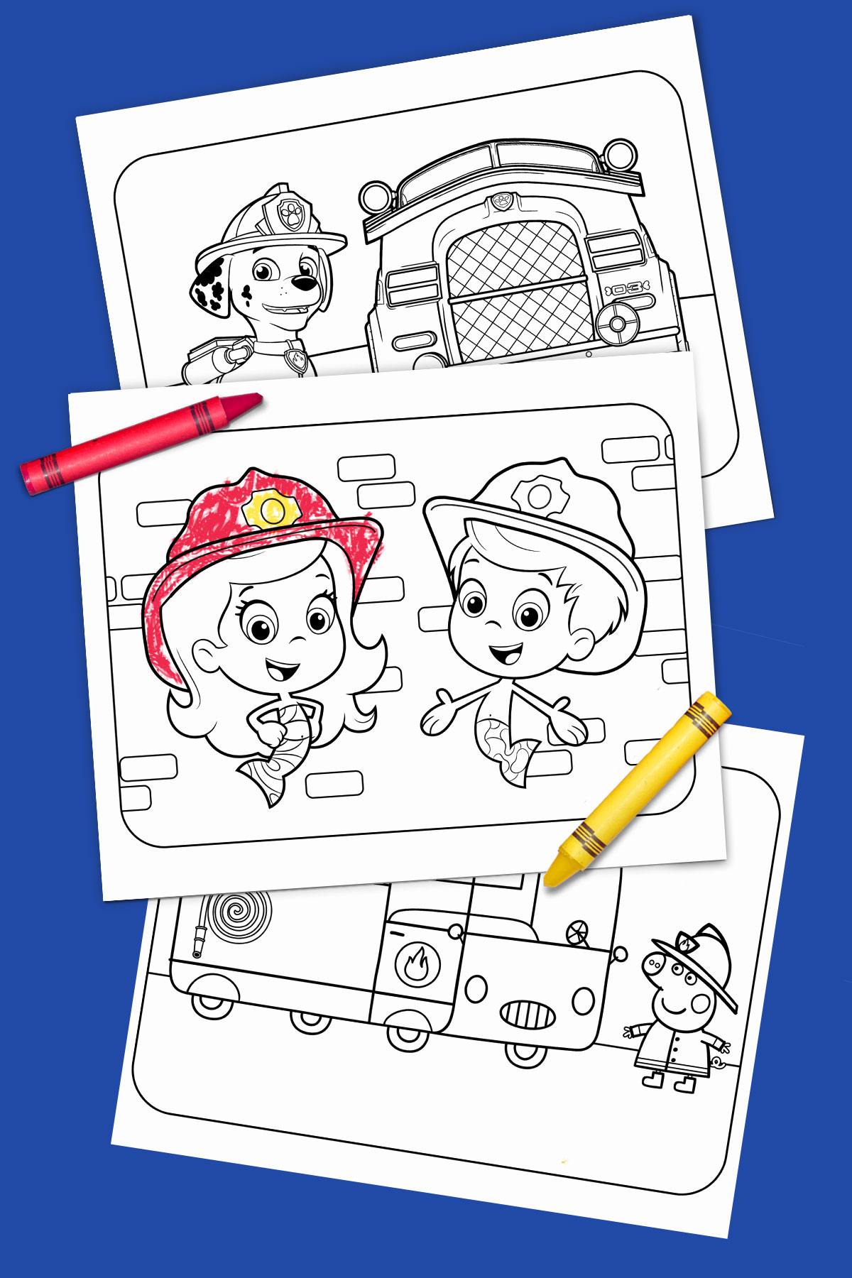 Fire Truck Heroes Free Printable Coloring Pages