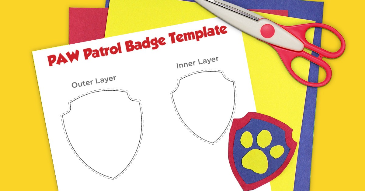 photograph regarding Free Printable Paw Patrol Badges named PAW Patrol Printable Badge Template Nickelodeon Mom and dad