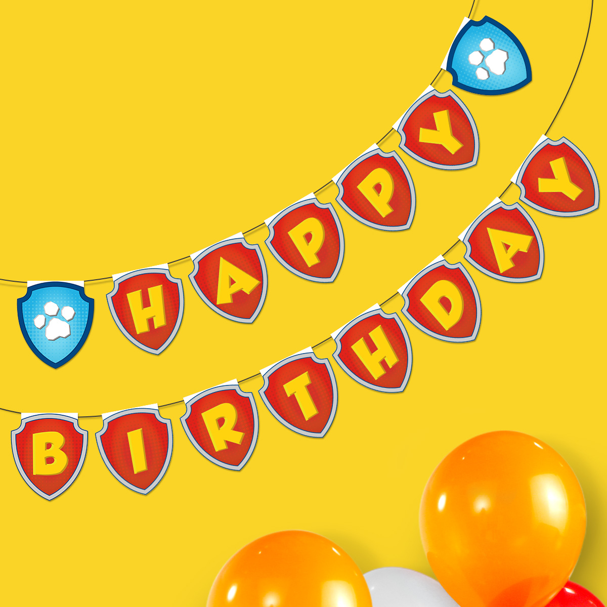 PAW Patrol Printable Birthday Banner