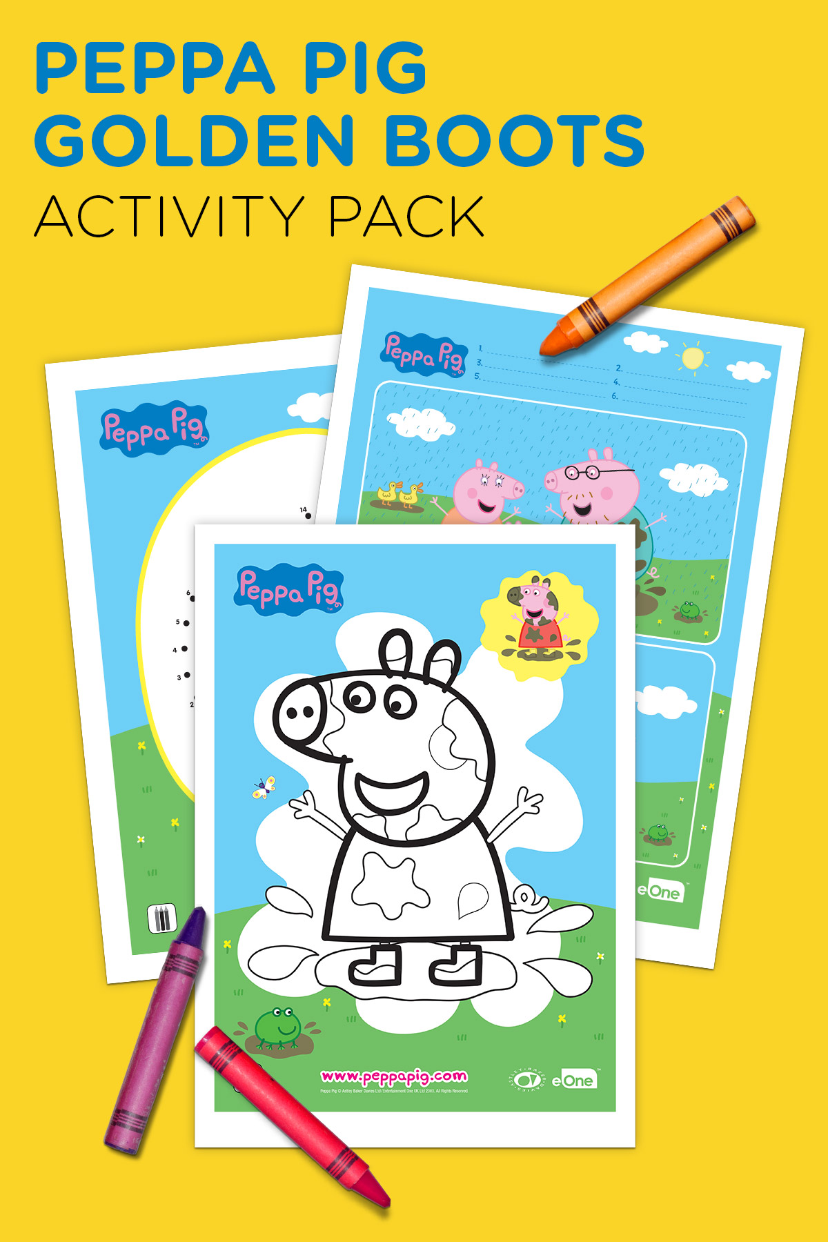 image relating to Peppa Pig Character Free Printable Images named Peppa Pig Golden Boots Recreation Pack Nickelodeon Mothers and fathers