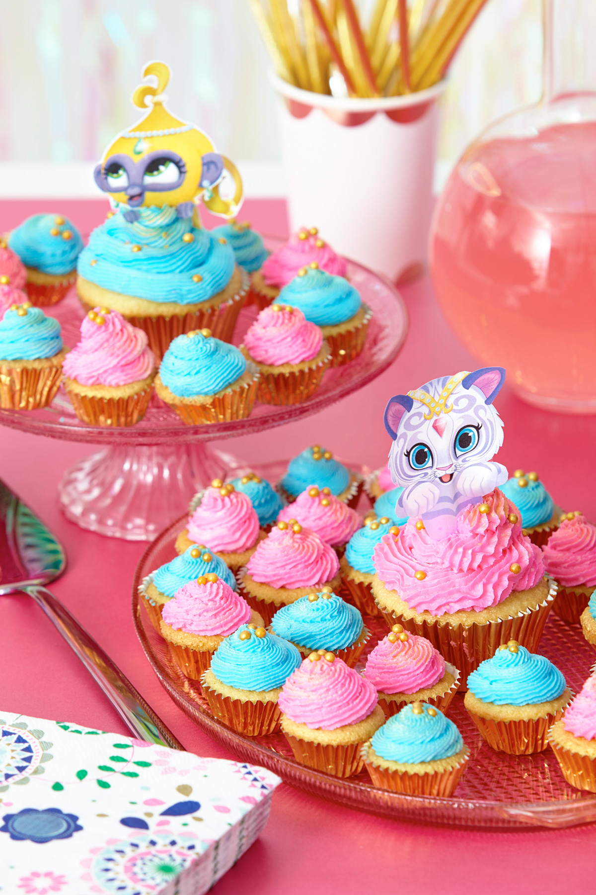 Shimmer and Shine Printable Cupcake toppers