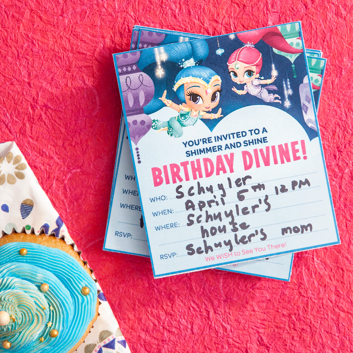 Shimmer and Shine Birthday Invitations