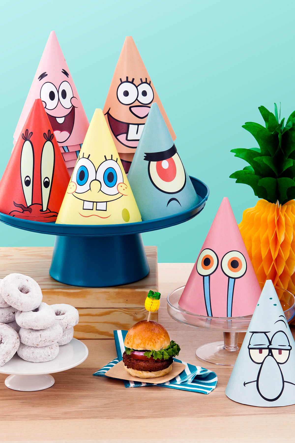 image about Spongebob Printable identified as SpongeBob Printable Social gathering Hats Nickelodeon Mom and dad