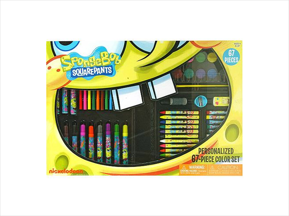 15 Birthday Gift Ideas for Preschoolers - SpongeBob Stationary Set