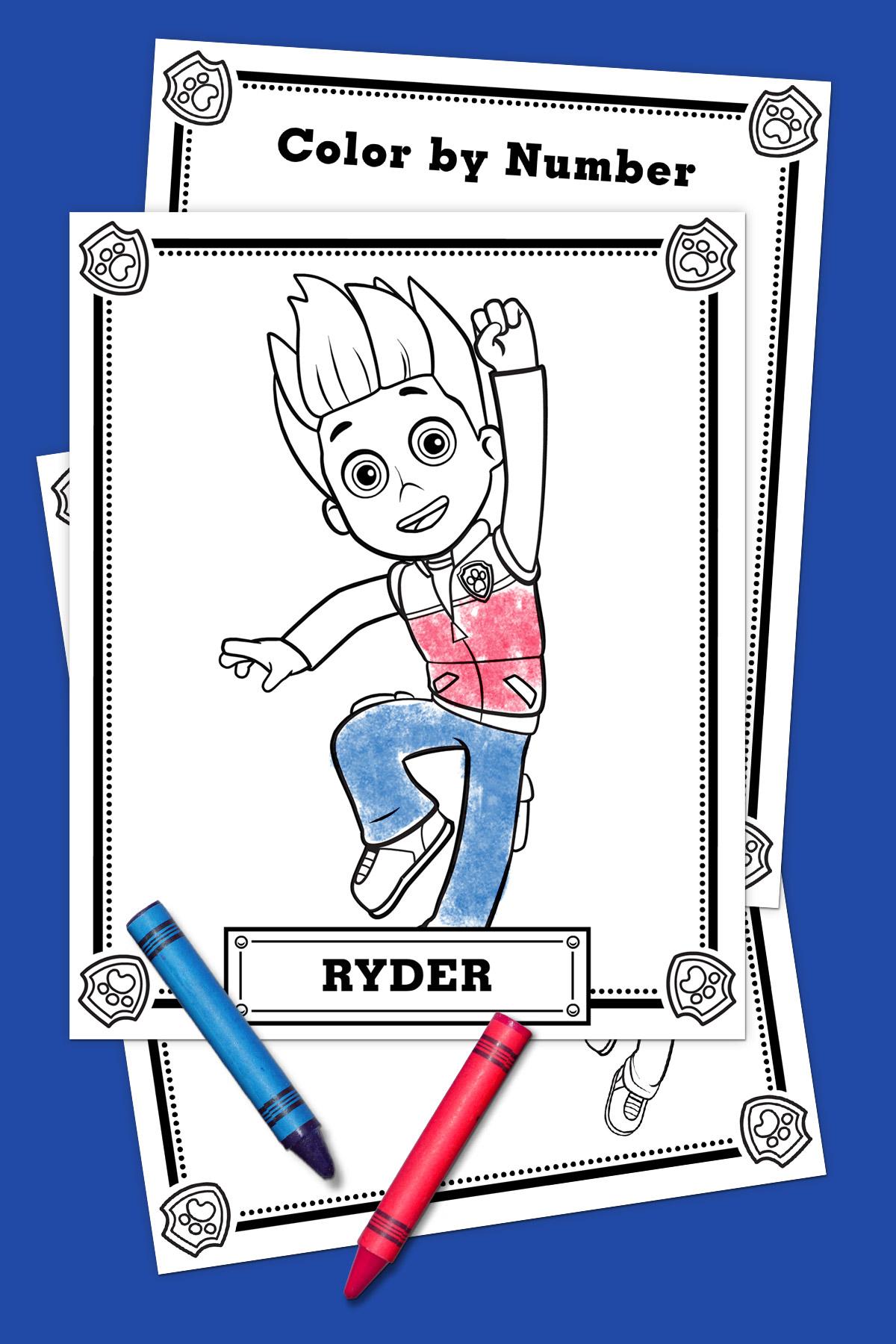 Paw Patrol Ryder Coloring Pack Nickelodeon Parents