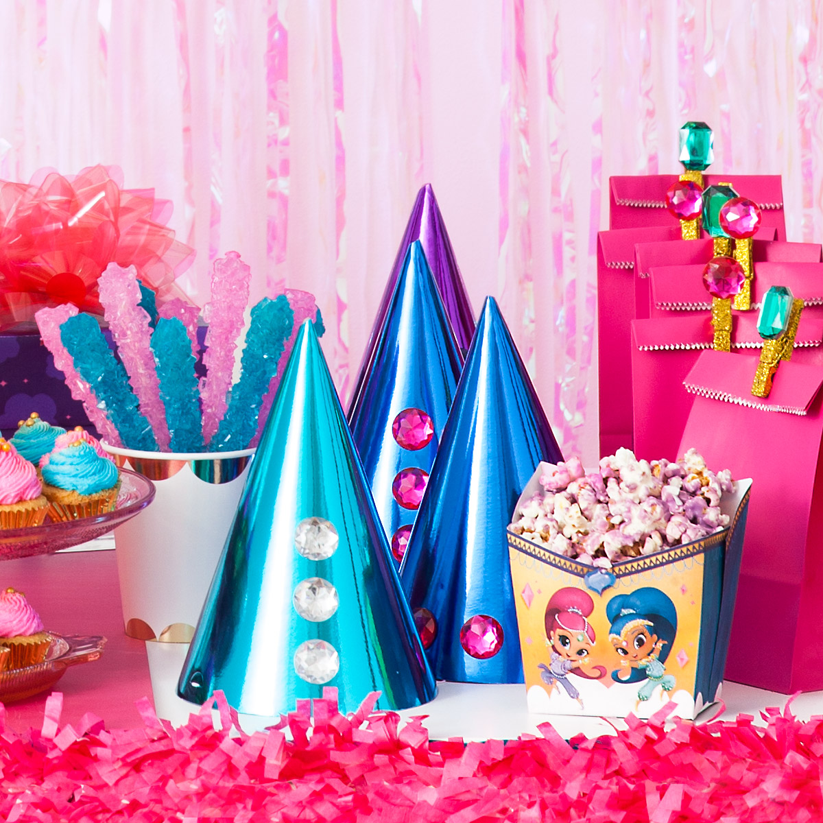 Shimmer and Shine Birthday Party Hats