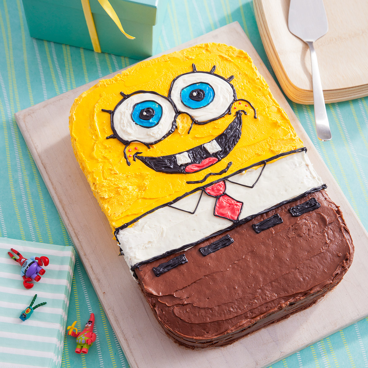 Plan A Spongebob Squarepants Party on birthday cupcake ideas