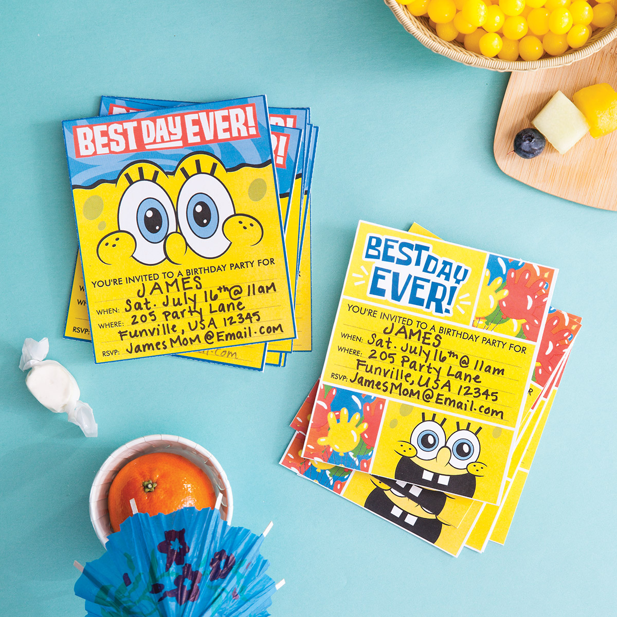 plan a spongebob squarepants party  nickelodeon parents, party invitations