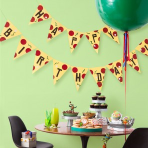 It's a Pizza Birthday Banner!