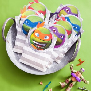 TMNT Goody Bag Decals