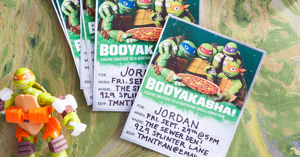 TMNT Booyakasha! Party Invitations | Nickelodeon Parents