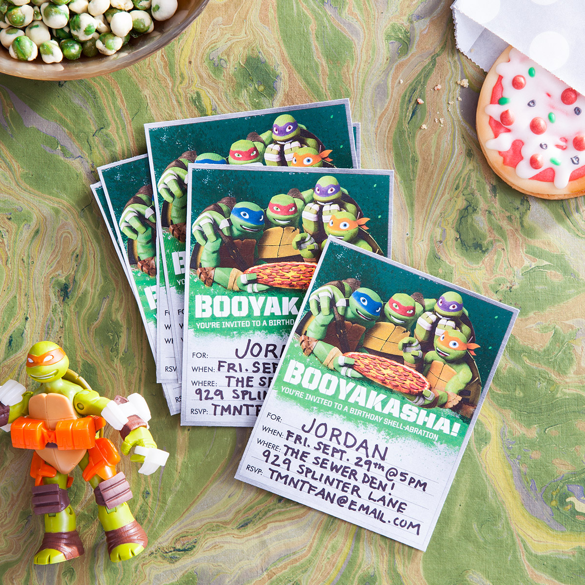 TMNT Booyakasha! Party Invitations
